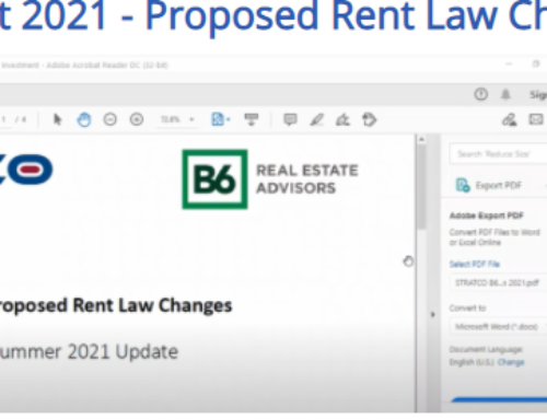Proposed Rent Law Changes